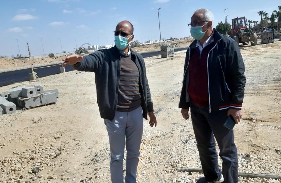 مسئولو  الإسكان  يتابعون أعمال محور الشهيد  خالد مغربي  ومشروعات تطوير الشروق   صور