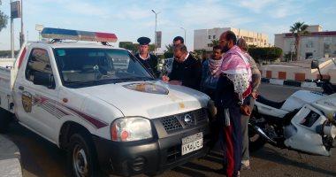 حملات مرورية بمدينة الشروق بالتنسيق مع الإدارة العامة لمرور القاهرة