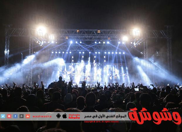 بالصور.. حفل حسام حبيب وكارمن سليمان فى الجامعة البريطانية