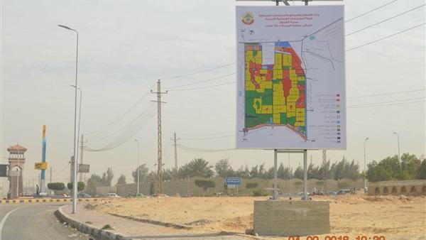 رئيس جهاز الشروق  تنفيذ لافتات إرشادية مضيئة لمعالم المدينة المميزة