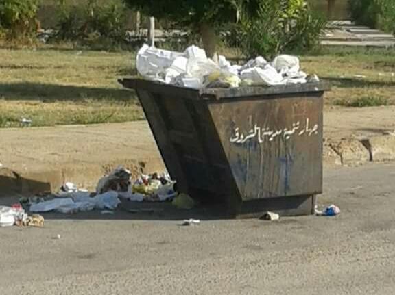 بوابة اهل الشروق ترصد إنتشار القمامة بمدينة الشروق