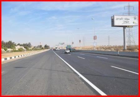 فتح طريق السويس الصحراوى بعد إغلاقه للعثور على دانة مدفع بالكيلو 109
